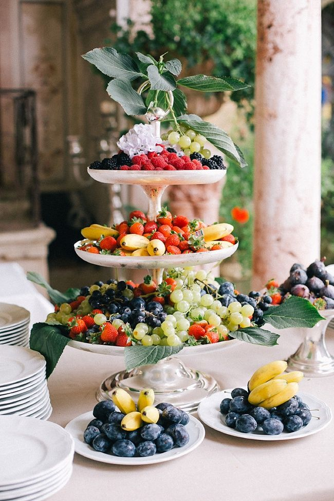 Fresh Fruit Plateau: Fairytale Chateau Wedding in France with One and Only Paris