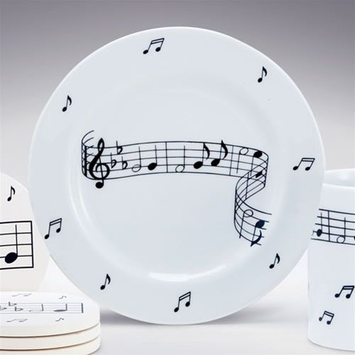 music note dinnerware