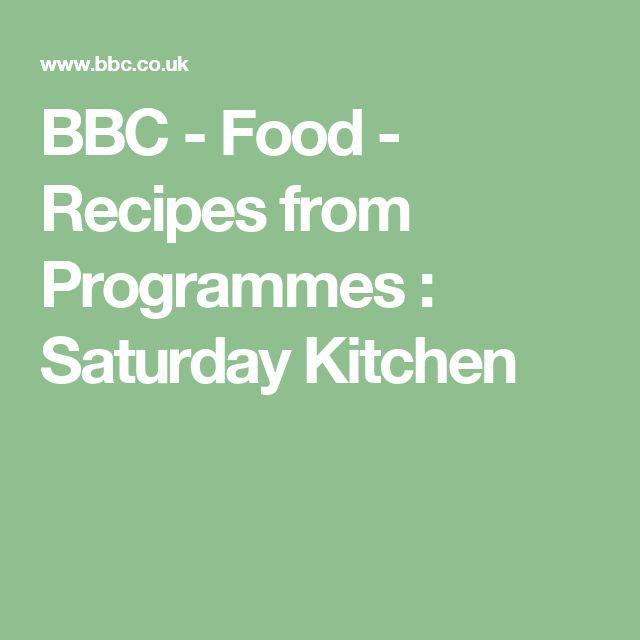 BBC - Food - Recipes from Programmes : Saturday Kitchen