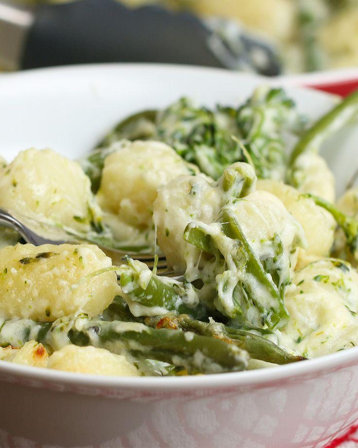 Cheesy Broccoli Gnocchi