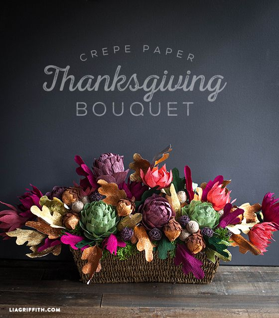 For my upcoming family Thanksgiving dinner, I wanted to great a bouquet for my table that is lush, abundant and hand made. So that is what I what you can make for you day of thanks.  #crepepaperflowers #Thanksgiving #papercraft