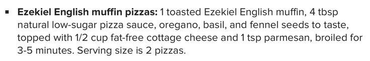 Ezekiel English Muffin Pizzas