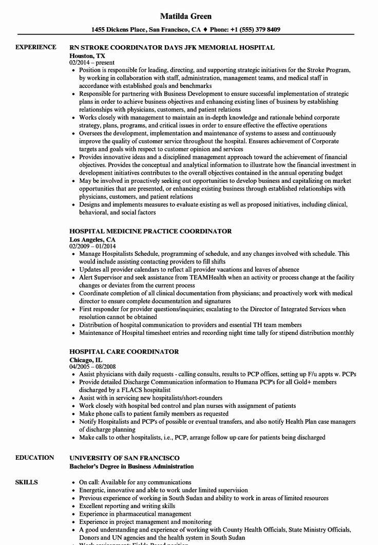 20 Health Unit Coordinator Job Description Resume