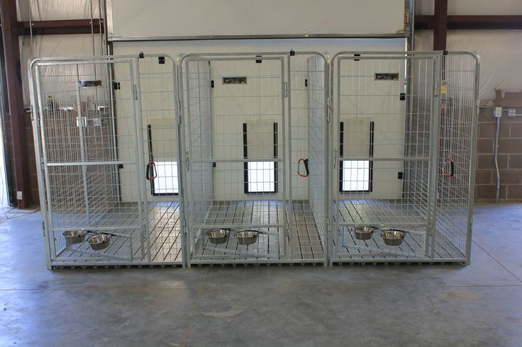 """inside leading to the outside k9 kennel """"pro series"""" inline dog runs with swivel bowls"""