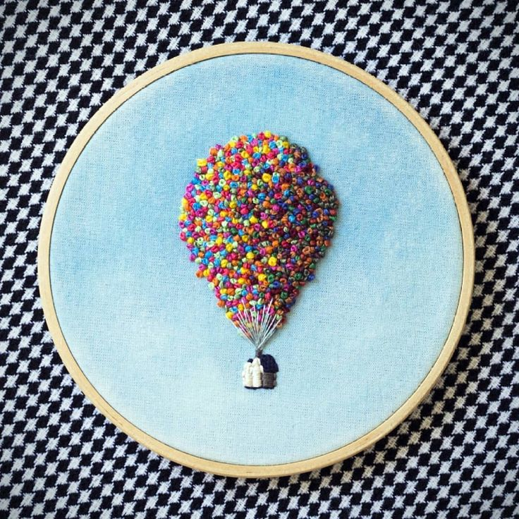 It has been one year since we finished our first Up inspired embroidery! 🎂🎈 . . . . #needlejuiceart #upaltasaventuras #handembroidery…