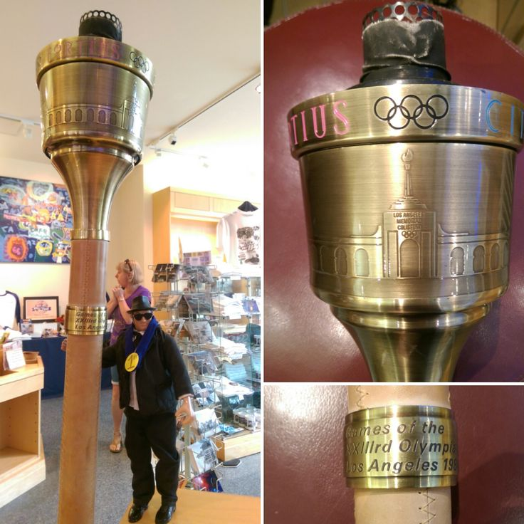 """It's #ArtifactOfTheMonth time!  We received this neat 1984 #Olympic torch as a loan to the museum today. Carried by local Jolietian, Doug McCallister, this torch was part of the relay bringing the Olympic flame from Mt. Olympus, Greece to the Olympic Games in Los Angeles, CA, USA. If you would like to check it out, stop by the museum's Artifact of the Month/Recent Acquisition Case on the second floor of the galleries!"""