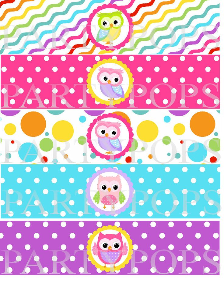 DIY Owl Party Printable,  Water Bottle,  Milk Bottle Labels, Napkin Rings, Label,  Owl Party Decoration,  INSTANT DOWNLOAD by PartyPops on Etsy https://www.etsy.com/listing/150274970/diy-owl-party-printable-water-bottle
