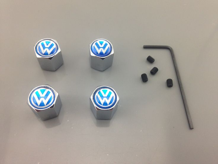 VOLKSWAGEN VALVE CAPS  #1620 #volkswagen #valve #caps #allemblems #VW #tuning #maniacs #vwfans #volkswagenfans  http://allemblems.com 100% Brand new in Box  Material: Made Of Metal    Color:  Same like in the picture   FIT: Vw, Volkswagen, Polo, Golf, Passat, Touareg, Beetle, Jetta, Cc, Phaeton, Fox, EOS, Sirocco, Touran, Sharan, Tiguan, GTI, R line, Lupo, routan  If you have any questions,