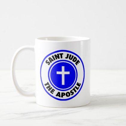 Saint Jude the Apostle Coffee Mug - decor diy cyo customize home