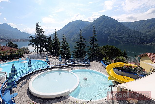 View of family pool area and lake at @parcosanmarco via @jetsetextra