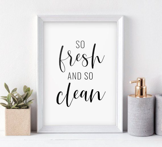 Bathroom Decor So Fresh And So Clean Printable Art Bathroom Wall Art Bathroom Print Washroom Sign Instant Download Buy 2 Get 1 Free Bathroom Art Decor Bathroom Wall Art Bathroom Prints