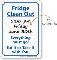 Fridge Clean Out Etiquette Sign | Office etiquette ...