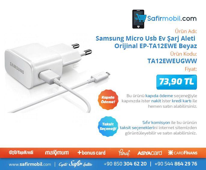 #Samsung #Micro #Usb #Ev #Şarj #Aleti #Orijinal #Beyaz #Cepaksesuar #Safirmobil