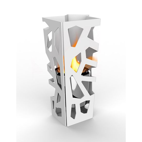 DecorPro Vibe Sconce Wall Mounted Fireplace In White