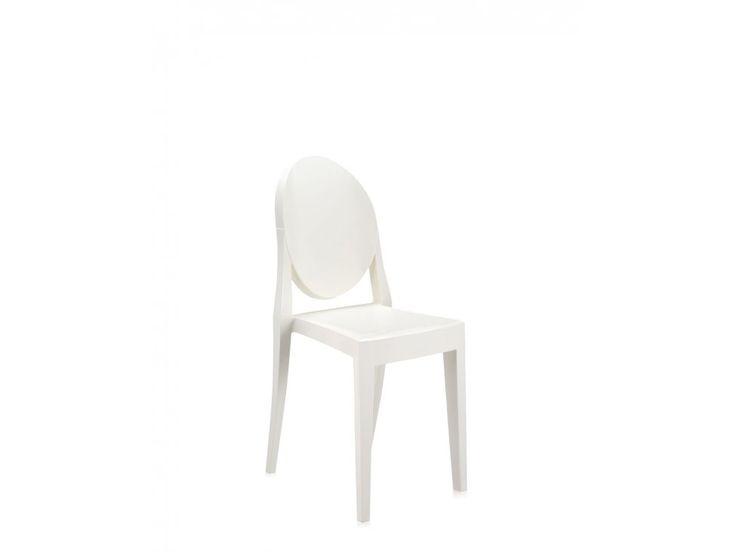 Krzesło Victoria Ghost białe — Krzesła Kartell — sfmeble.pl