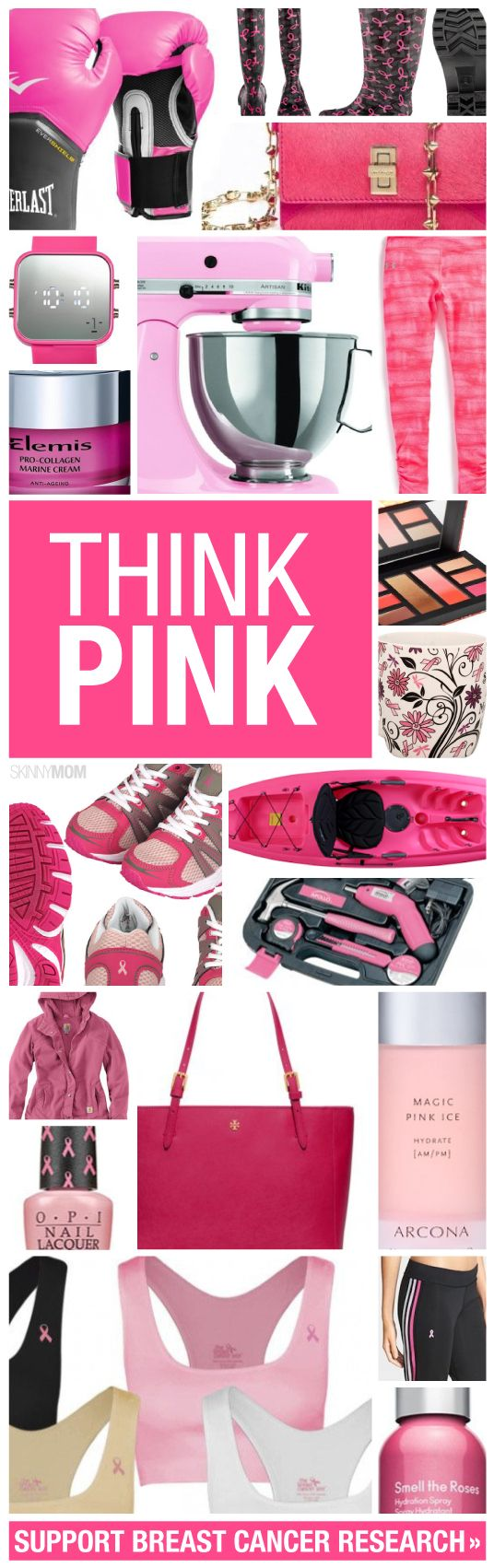 Great pink products supporting breast cancer research.