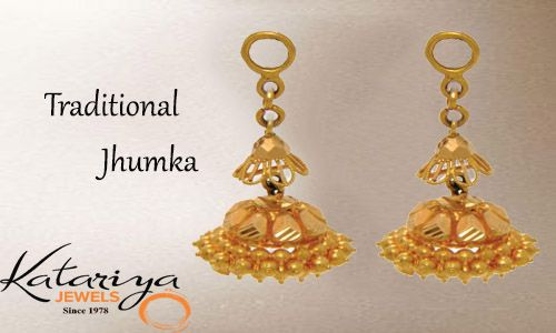 Classic Gold Jhumkas in 22Kt  Buy Now : http://buff.ly/1NK2NHo