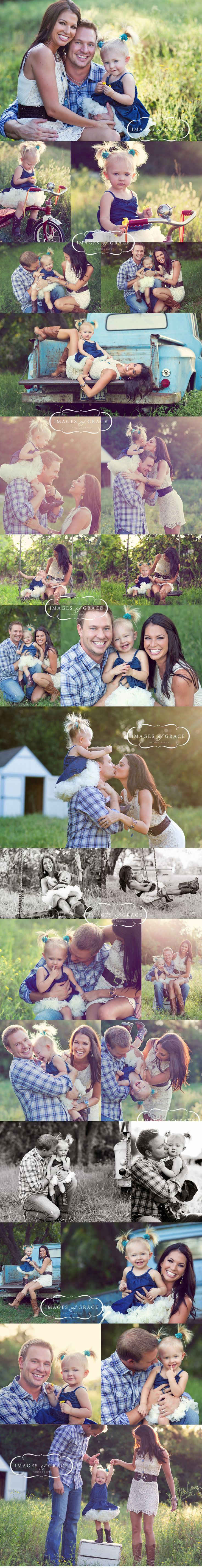 "What a beautiful family session of Melissa Rycroft-Strickland, her husband Tye & their little girl Ava. Photography by ""Images of Grace"". Love these and I love that they also use ""Images"" as part of their photography name. I was beginning to think I was the only one who decided to be different. :)"