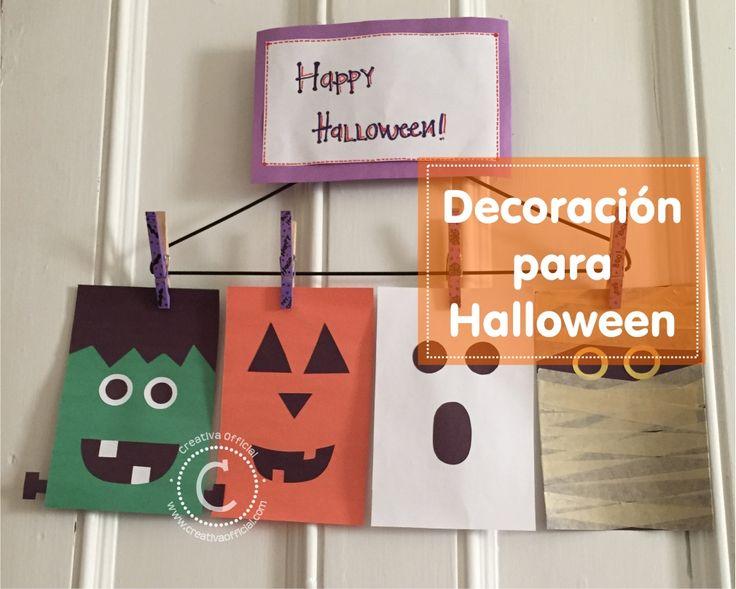 Si quieres una decoración fácil, original y rápida de hacer para Halloween dale click al link o a la imagen para ver cómo hacer estos divertidos monstritos ;)   => http://creativaofficial.com/decoracion-unica-y-original-para-halloween/