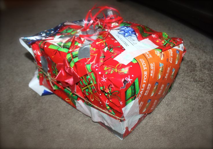 Some folks just aren't built to wrap Christmas presents! #yeg #yeglove #yegXmas