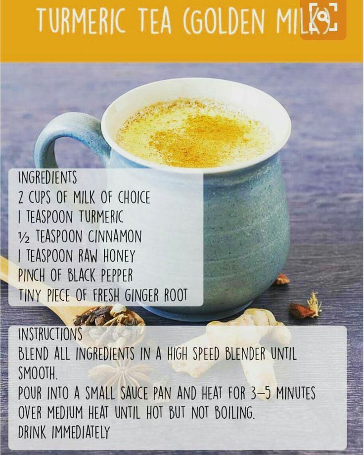 The warming spice #turmeric, has been used for its medicinal, antioxidant, and anti-inflammatory properties for thousands of years. Try it with #almondmilk or #coconutmilk for healthier options.