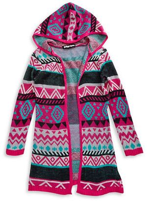 Planet Gold Girls 7-16 Open-Front Tribal Cardigan - Shop for women's Cardigan