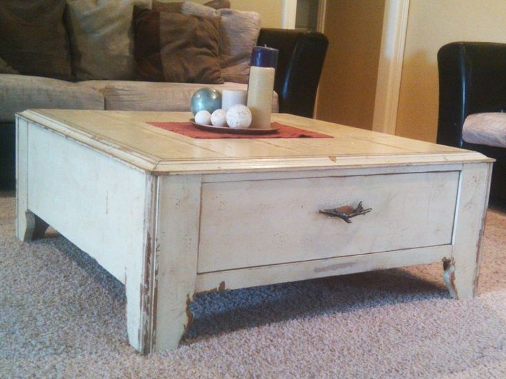 distressed coffee tables table drawers wood square top uk