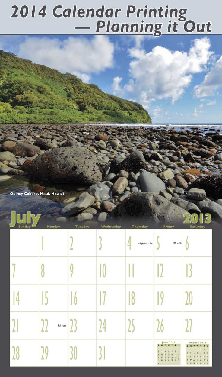 Lots of useful information if you are planning a calendar printing project. #calendar #printing http://www.yearbox.com/help/calendar-planning/2014-calendar-printing/