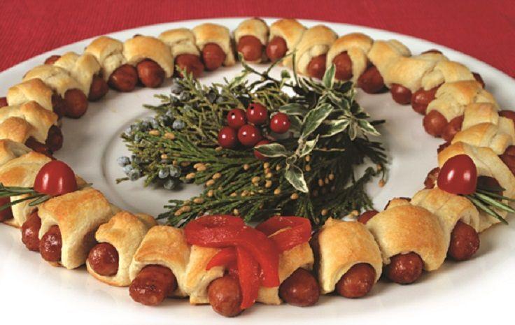 Zet+wat+toepasselijks+neer+op+tafel+tijdens+de+kerstdagen.+De+leukste+&+lekkerste+gerechten+in+de+vorm+van+een+kerstkrans!