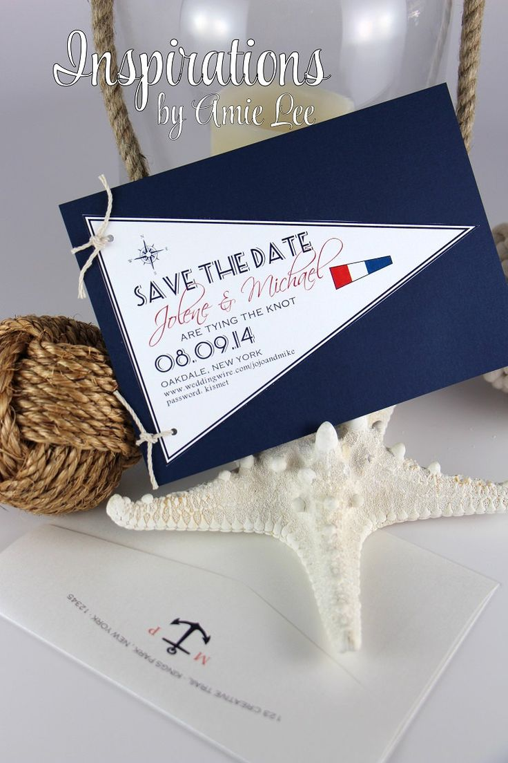 Nautical Flag Save the Date Wedding by