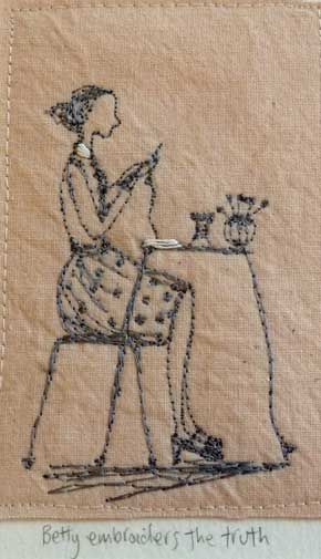 Betty embroiders the truth by Michelle Holmes