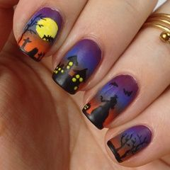 Halloween Nails / Halloween Nageldesign