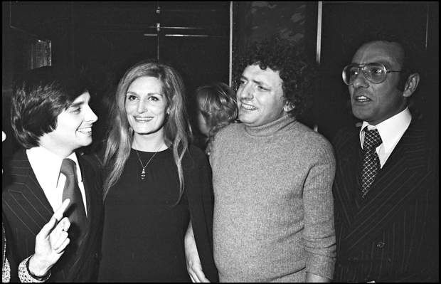 Thierry Le Luron avec Dalida, Jacques Martin et Yves MourousiThierry Le Luron, Dalida, Jacques Martin and Yves Mourousi. (Photo by Bertrand Rindoff Petroff/Getty Images)