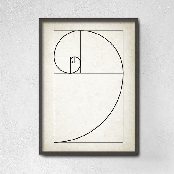 Fibonacci Spiral Wall Art Poster - Mathematics Fibonacci Numbers - Fibonacci Sequence - Golden Ratio Spiral - Mathematics Student Print  This mathematics poster is printed using high quality archival inks on heavy-weight archival paper with a smooth matte finish. A fantastic gift or a fabulous addition to your home!  In mathematics, Fibonacci numbers or Fibonacci sequence are the numbers in the following integer sequence 0, 1, 1, 2, 3, 5, 8, 13, 21, 34, 55, 89. The first two numbers in the…