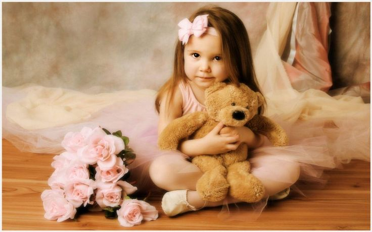 Girl With Teddy Bear Cute Wallpaper | cute baby girl with teddy bear wallpaper, cute girl with teddy bear wallpaper
