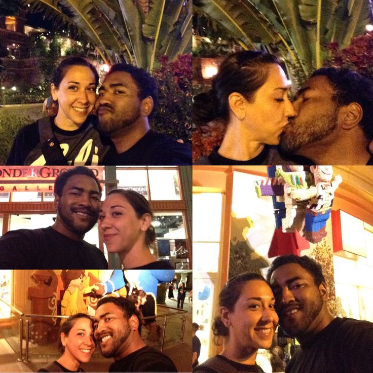#La #DisneyTown #jamilehscott #israelaquino have the best time being with each other.