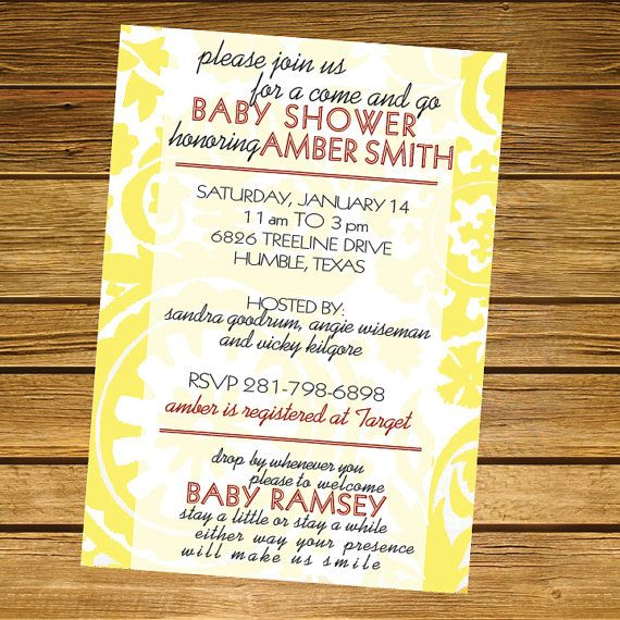 Come and Go Baby Shower Invitation by LiliesoftheFields on Etsy, $18.00