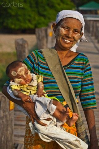 BURMA - Mother and Baby