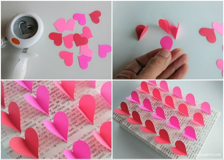 Looking for easy DIY Valentine's Day craft ideas? DIY Inspired has you covered for inspiration! Click in to see how she created this simple hombre paper heart design on a printable canvas.