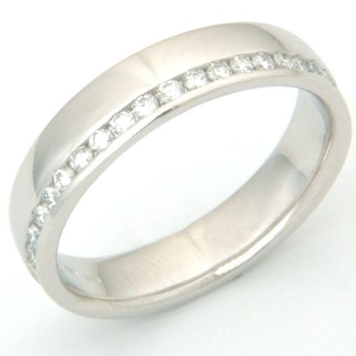 Great Platinum Channel Set Diamond Wedding or Eternity Ring Form Bespoke Jewellers
