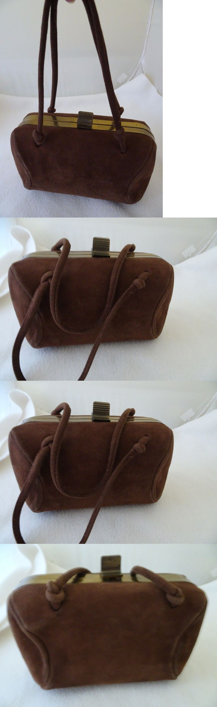 Bridal Handbags And Bags: Brown Suede Hand Bag/Purse-1946 Wedding Attire-Vtg-.Clean And Usable-Boxy And Beau -> BUY IT NOW ONLY: $20.0 on eBay!