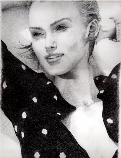 old portrait by luca qiu, via Behance
