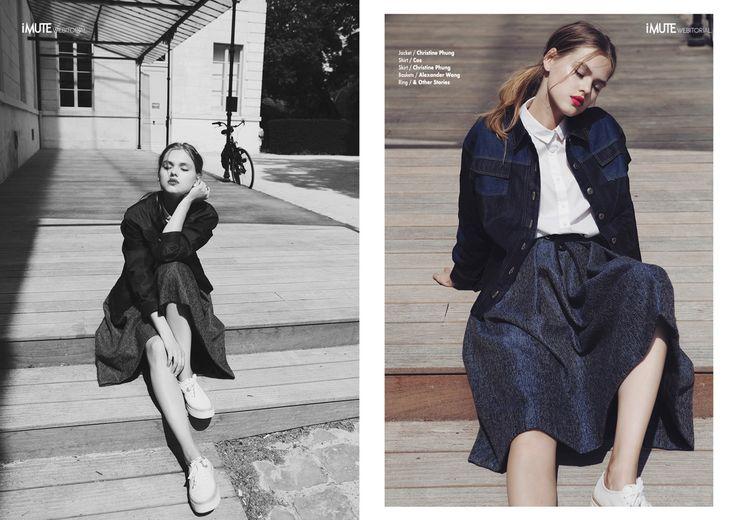 Afterschool webitorial for iMute Magazine  Photographer / Charlotte Navio Model / Alina @ CITY Models Stylist / Caroline Nedelec Make up / Fanny Renaud Hair / Yumiko Hikage