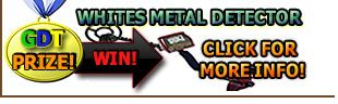 WIN a Brand New Whites Metal Detector GDT home page icon! http://geodetecting.com/