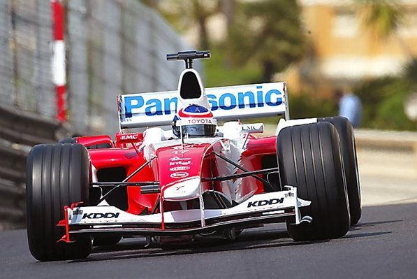Olivier Panis (FRA) Toyota TF104. Formula One World Championship, Rd 6, Monaco Grand Prix, Practice, Monte Carlo, 20 May 2004