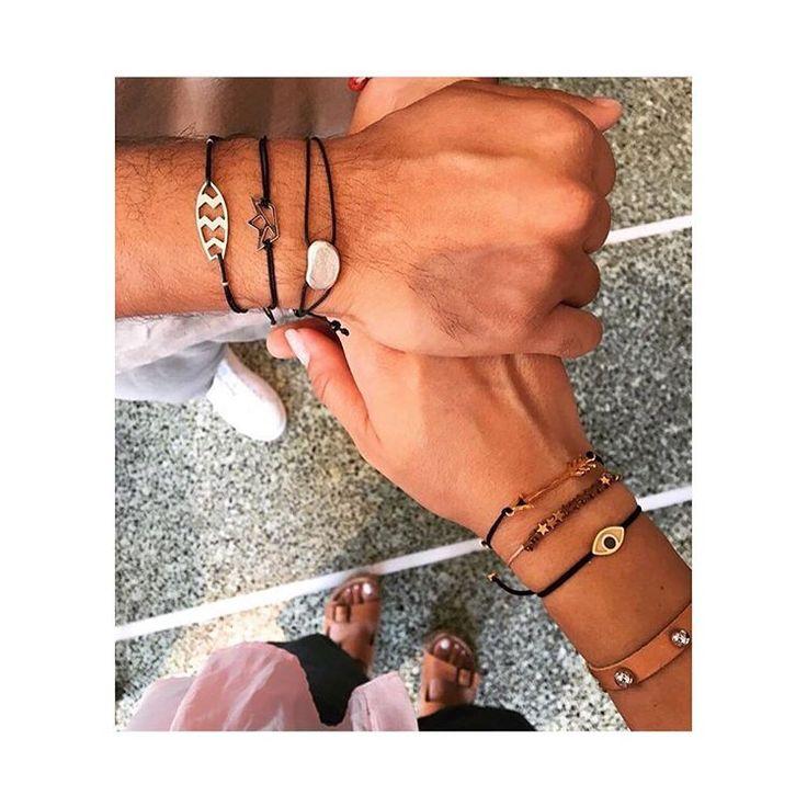 Be stylish both of you ..just wear your #lifelikes #charms ✌️ #mylifelikes #bracelers #handmade #couples #mixnmatch #makeyourowncombination
