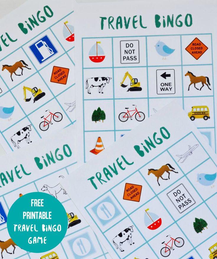 Free Printable Travel Bingo Game for Kids     #RoadTripHacks #Albertsons #ad