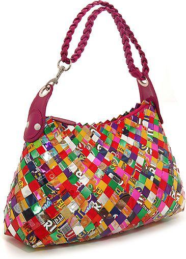 Multi Colored Purse   Multi-Color Ecoist Limited Edition Candy Wrapper Hobo Handbag