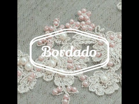 ARTESANATO - BORDADO SOBRE RENDA - VESTIDO DE FESTA - YouTube
