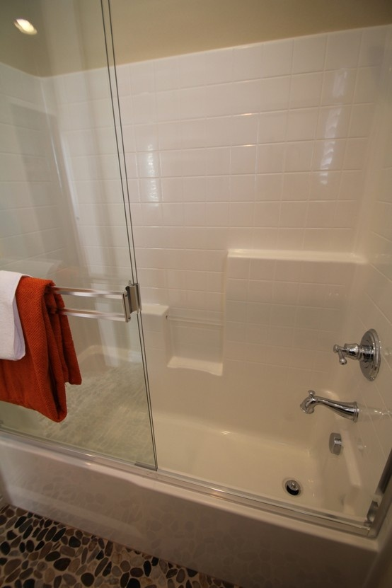 Easy maintenance tub shower surrounds secondary bath tub for 6 tub shower combo